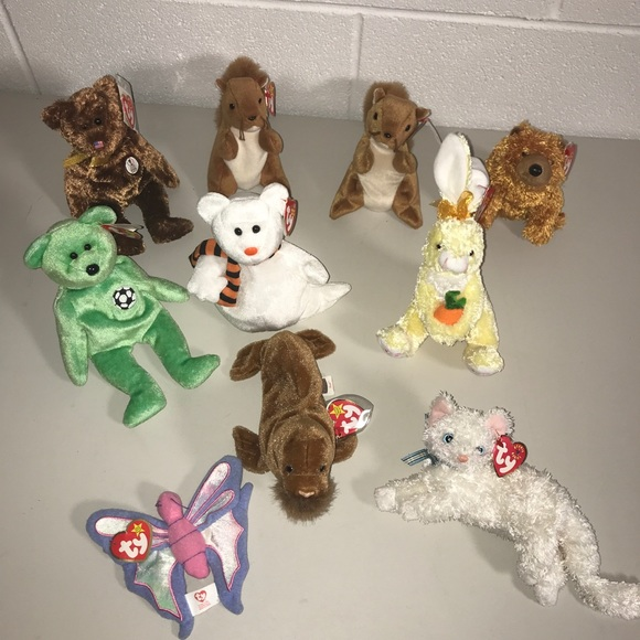 TY Beanie Babies Lot of 13 (10 NWT, 3 no tags)
